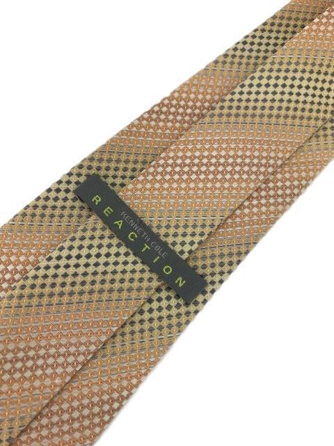"""New KENNETH COLE REACTION Silk TIE Orange Designer 58"""""""
