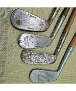 Lot of 4 Windsor hickory shaft irons + putter 2 irons 2 putters left hand - $81.60