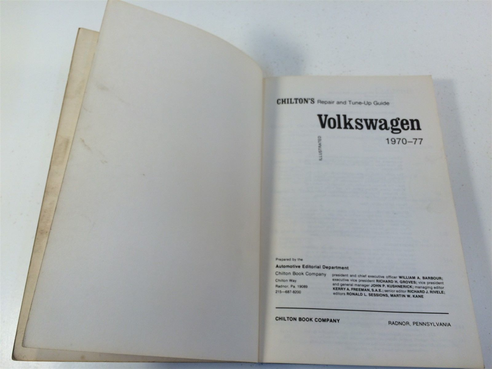 1970-1977 Chilton's Volkswagen Repair and Tune-Up Guide