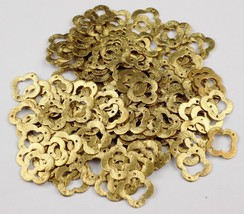 AAA 50 PCS Clover Charm 24k Gold Plated Golden Stamp Finish Charm 15mm - $13.94