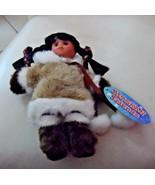 ALASKAN FRIENDS GENUINE NATIVE STYLE Eskimo DOLL 8 inches - $8.00