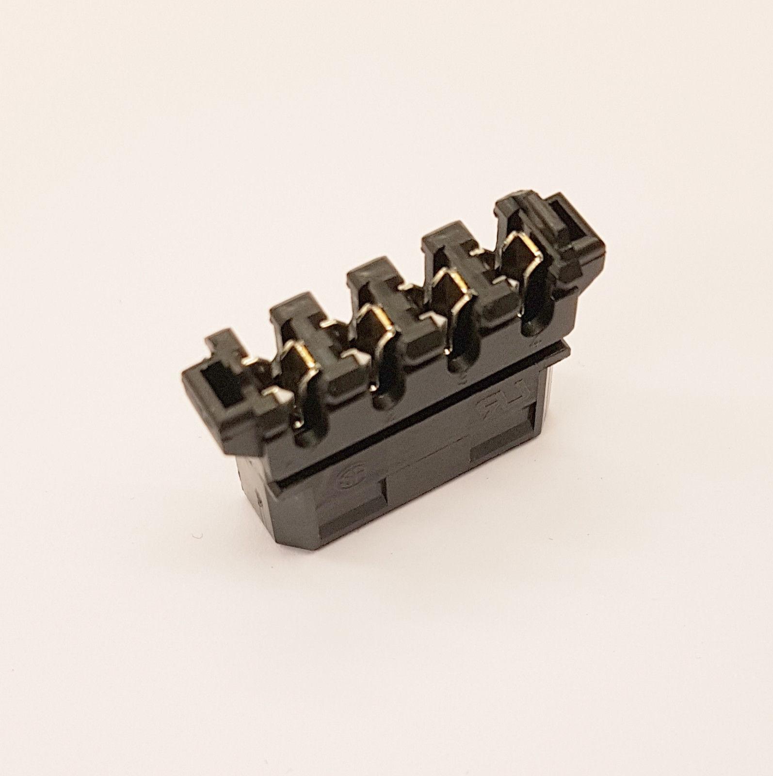 STRAIGHT MOLEX PC PSU POWER SUPPLY CONNECTOR - BLACK INC CAPS - DIY - PK OF 20