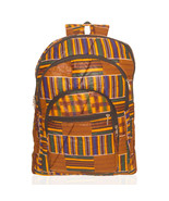 African Kente Cloth Adult Sized Backpack Rust - $49.00