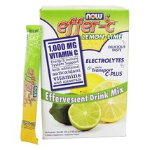 NOW Foods Effer-C Effervescent Drink Mix Lemon-Lime, 30 Packet(s) - $15.65