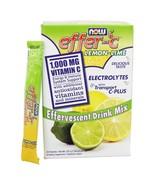 NOW Foods Effer-C Effervescent Drink Mix Lemon-Lime, 30 Packet(s) - $15.65