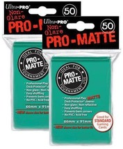100 Ultra Pro Aqua PRO-MATTE Deck Protectors Sleeves Standard MTG Colors... - $9.78