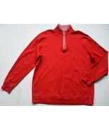 Bobby Jones Leaderboard Pima Cotton Quarter Zip Pullover XL Red Mock Neck - $34.95