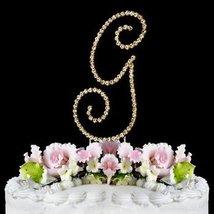 RENAISSANCE MONOGRAM CAKE TOPPER GOLD LARGE LETTER G - $27.98
