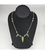 "13.2g,2mm-29mm, Small Green Nephrite Jade Arrowhead Beaded Necklace,19"",... - $4.75"