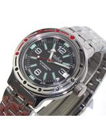 Vostok Amphibian 420640 /2416 Military Russian Diver Watch Black - $80.28