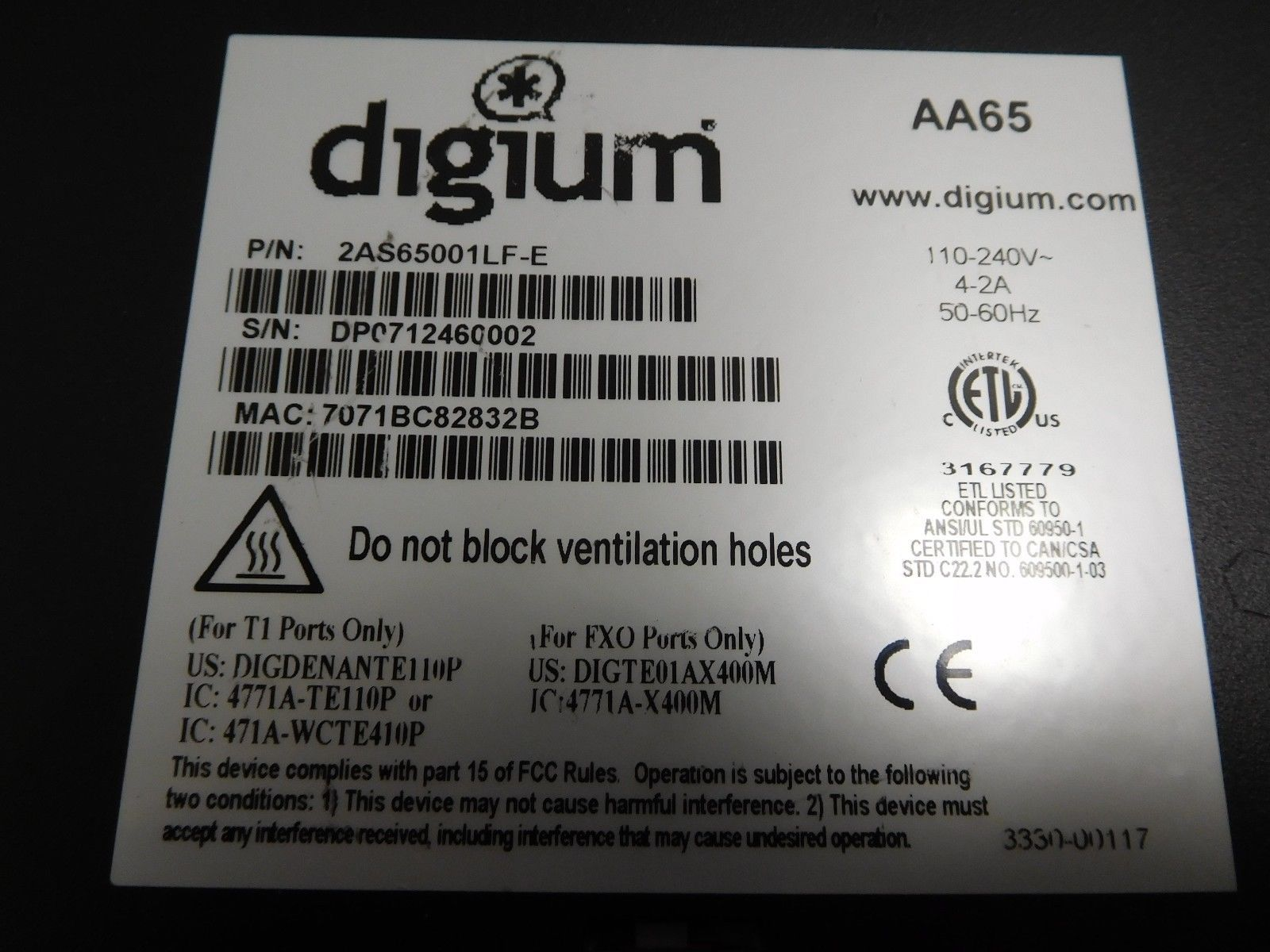 Digium Switchvox 65 AA65 Asterisk Vo Ip and 50 similar items