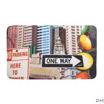 City Traffic Signs and Skyscrapers Memory Foam Floor Mat - $12.56