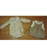 Mexx Polo One-Piece & Sweater Vest Boy 3-9M Cotton - $16.35