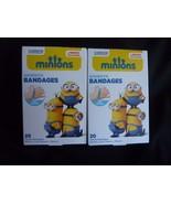 2 Boxs 40ct Minions Adhesive Bandages Fun Design Cushions Protects Long-... - $7.60