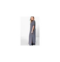 Boohoo Plus Elisa T-shirt Maxi Dress Charcoal Size US 12 NWT - $301,78 MXN