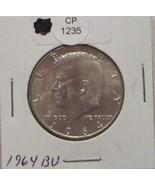 1964 BU Silver Kennedy Half Dollar CP1235 - $15.40