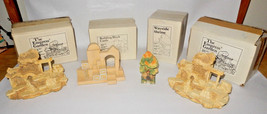 (4) GOEBEL PIECES WAYSIDE SHRINE-2 EMPRESS GARDEN-BUILDING BLOCK CASTLE ... - $69.25