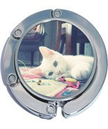 White Cat Foldable Purse Hanger - $9.78