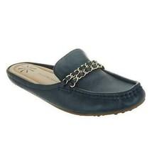 Isaac Mizrahi Live Women Moccasin Mule Flats Amanda Size US 6W Dark Navy... - $35.00