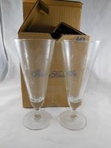 "Set of 2 Princess House Heritage Pattern Pilsner Beer Glass #442  7.5"" Tall NIB - $16.82"