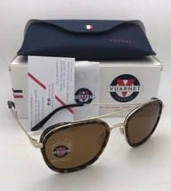 Polarized VUARNET Sunglasses VL 1615 0006 Gold & Tortoise Aviator w/Brown Lenses