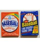 1988 OPC & 1988 Fleer Baseball Lot of 2 New Sealed Unopened Packs-* - $14.83