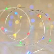 Philips 30ct Christmas LED Dewdrop Lights Battery Operated Slow Color Changing