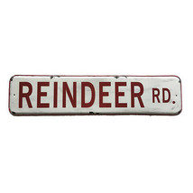 Darice Christmas Tin Reindeer Sign: 22.25 x 5.51 inches w - $17.99