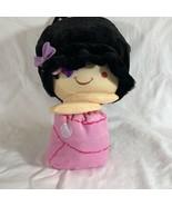 Flip Zee Girls Black Hair Girl with cat rolls up Zuri FLIPZEE - $12.65