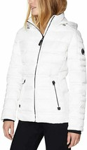 Nautica Womens Marshmellow White Water Resistant Puffer Hooded Jacket Large NWT