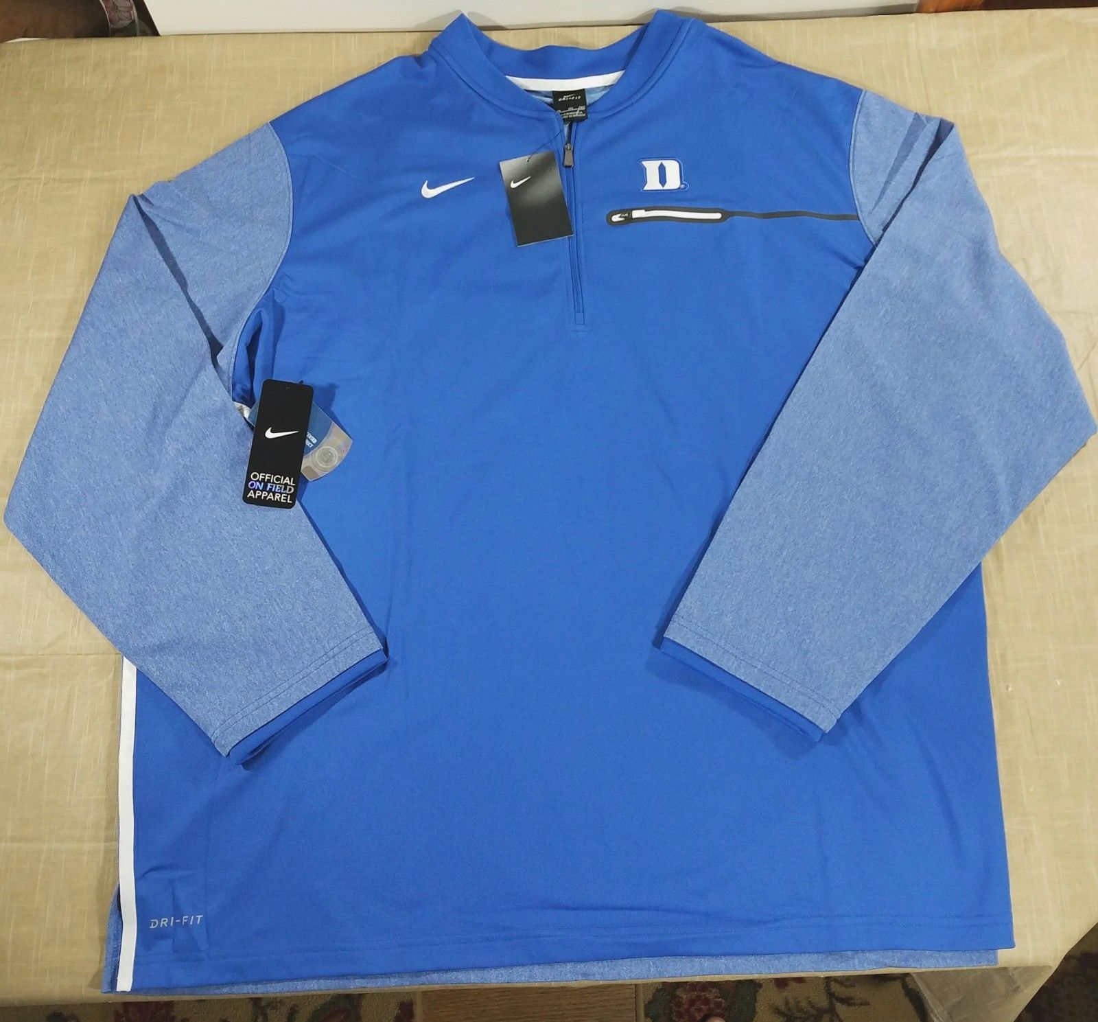 efcd99ccc Nike Duke Blue Devils Coach Sideline 1/2 Zip and 50 similar items