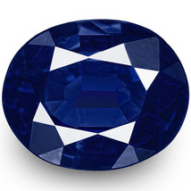 IGI Certified NIGERIA Blue Sapphire 0.57 Cts Natural Untreated Oval - $926.00