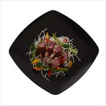 Black Renaissance 10 Inch Plastic Square Dinner Plates/Case of 120 - $204.81