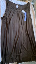 GAP MATERNITY Dark Brown Soft Light Flowy Sleeveless Tank Top Shirt Top ... - $24.70