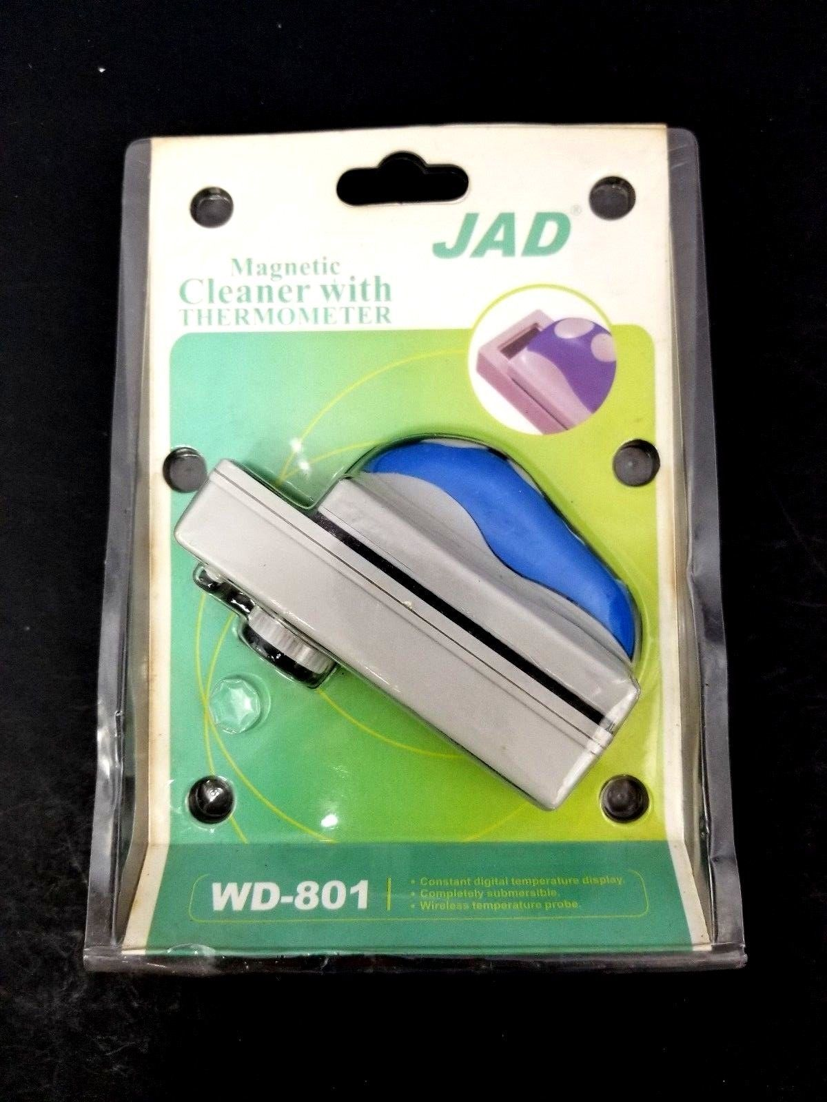 JAD Magnetic Aquarium Fish Tank Cleaner WD-801 with Thermometer New 692478121139