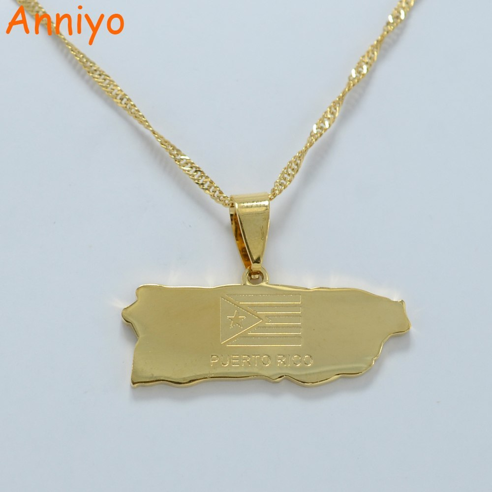 Primary image for Puerto Rico Map Pendant and Thin necklaces for Women/Girl Puerto