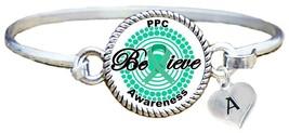 Custom Primary Peritoneal Cancer PPC Awareness Believe Bracelet Jewelry Initial - $14.84+