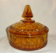 Amber Glass Candy Dish Indiana Princess Vintage inv1831 - $17.82
