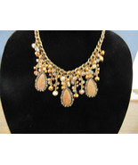 Chunky Resin Bead Multi Glass Drop Necklace & Earring Set Fashion Jewele... - $69.99