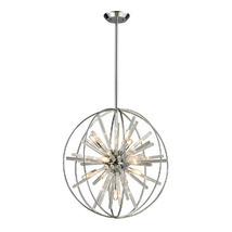 Elk Lighting Twilight Collection 10 Light Pendant In Polished Chrome - 1... - $890.00