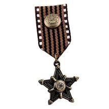 Set of 2 Brown Color Retro Navy Badge Star Pattern Alloy Navy Brooch