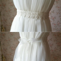 Ivory White Lace Bridal SASH BELTS Rhinestone Sash Wedding Bridesmaid Sashes NWT image 4