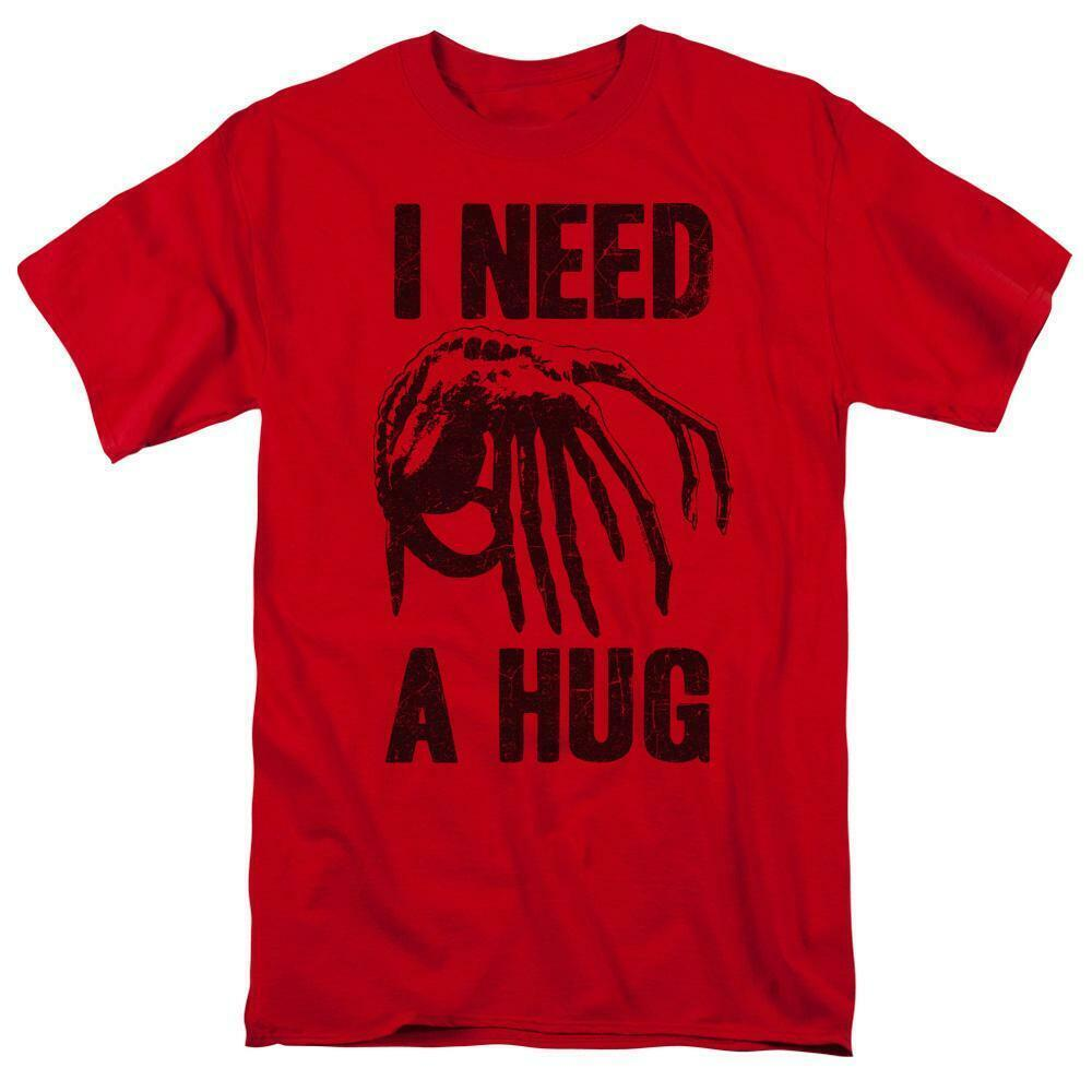 Alien t-shirt I Need a Hug retro 70's 80's horror sci-fi graphic tee TCF107
