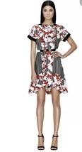Peter Pilotto Target Womens Dress Short Sleeve Floral Ruffle High Low 10... - $11.47