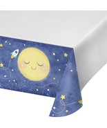 Moon and Back Plastic Tablecover 54 x 102 Baby Shower Birthday Party Border - $5.69