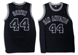 "George Gervin San Antonio Spurs Autographed Black Jersey Inscribed ""HOF 96"" - $212.00"