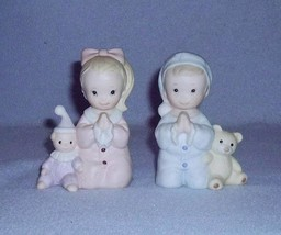 Homco Praying Boy and Girl 2 Figurines Bedtime Prayer No. 1433 Home Interiors - $8.99