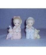 Homco Praying Boy and Girl 2 Figurines Bedtime Prayer No. 1433 Home Inte... - $8.99