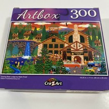 NEW Artbox 300 Piece Jigsaw Puzzle ~ Dozing Bear Lodge by Mark Frost - $10.37