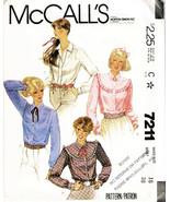 Vintage 1980 Misses' BLOUSES McCall's Pattern 7211 Size 16 - UNCUT - $10.00